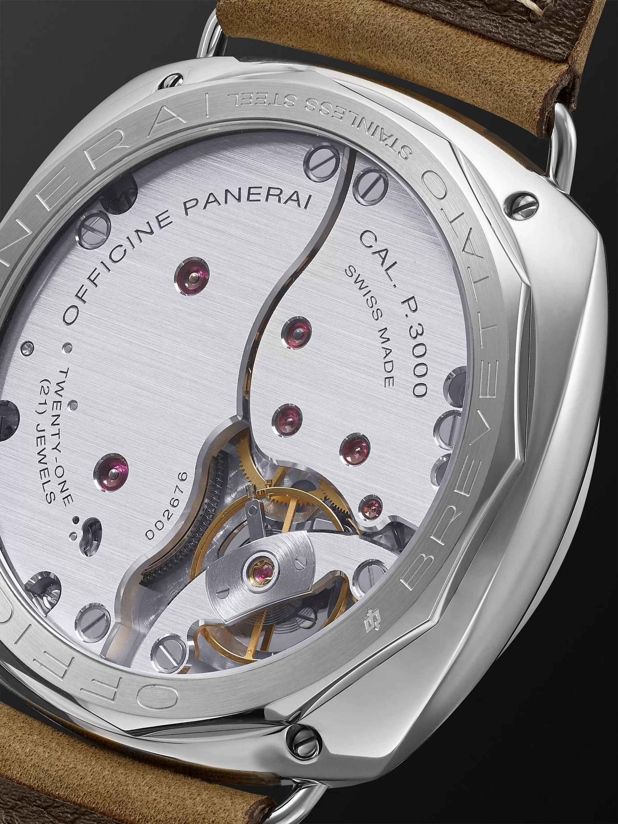 Panerai Radiomir California Hand-Wound 47mm Stainless Steel and Suede Watch, Ref. No. PAM00424