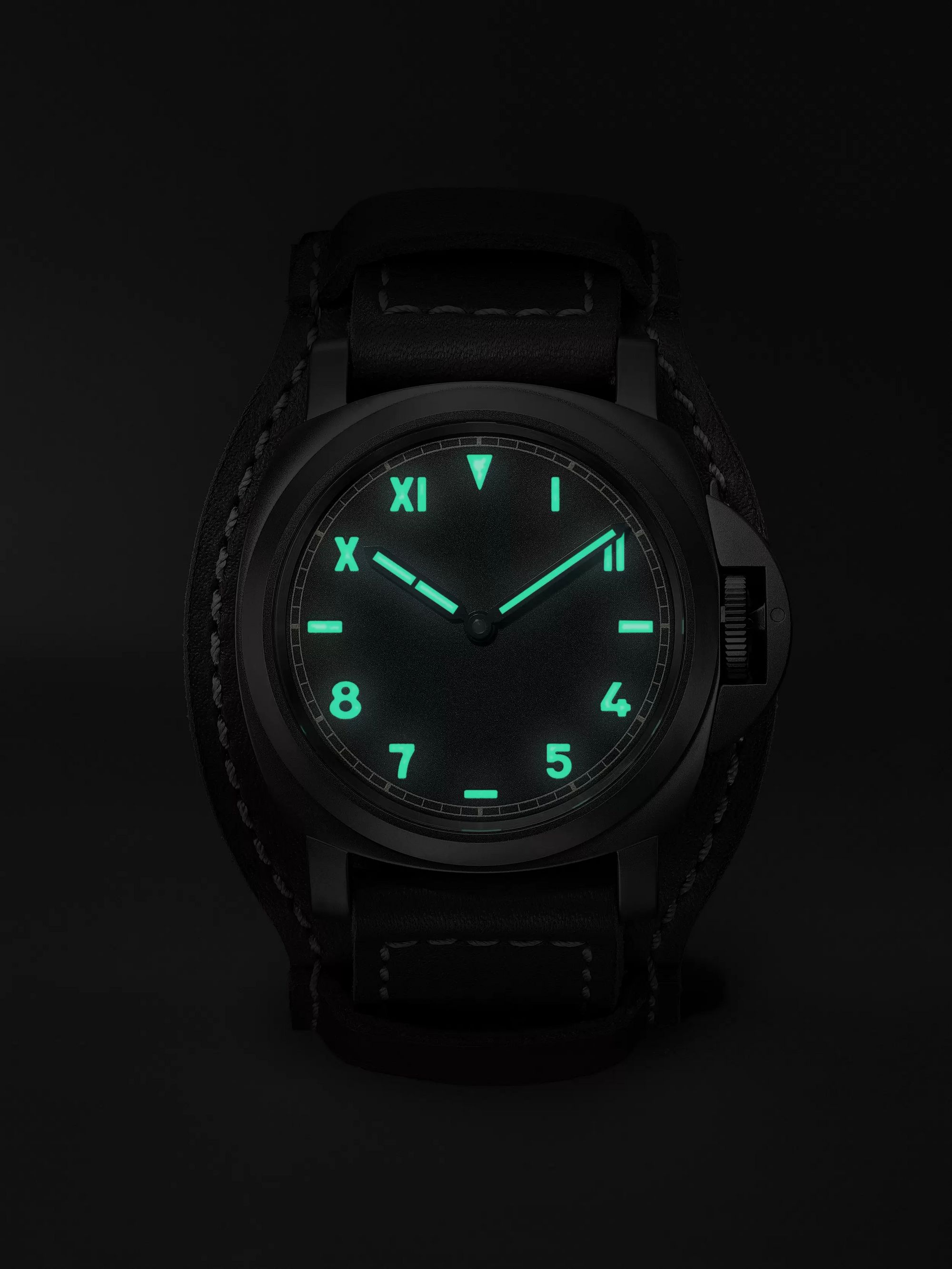 Panerai Luminor California 8 Days DLC Hand-Wound 44mm Titanium and Leather Watch