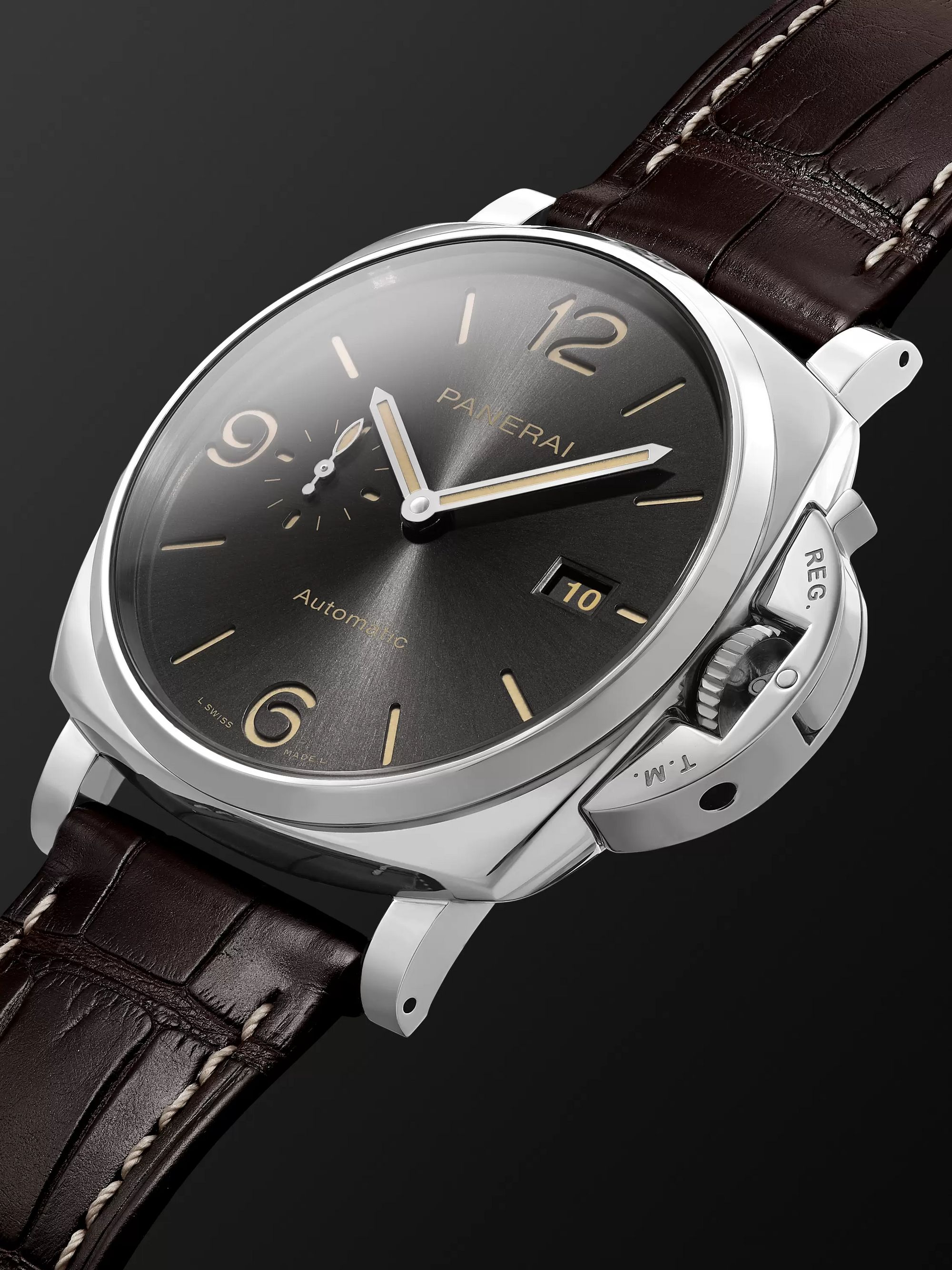 Panerai Luminor Due Automatic 45mm Stainless Steel and Alligator Watch