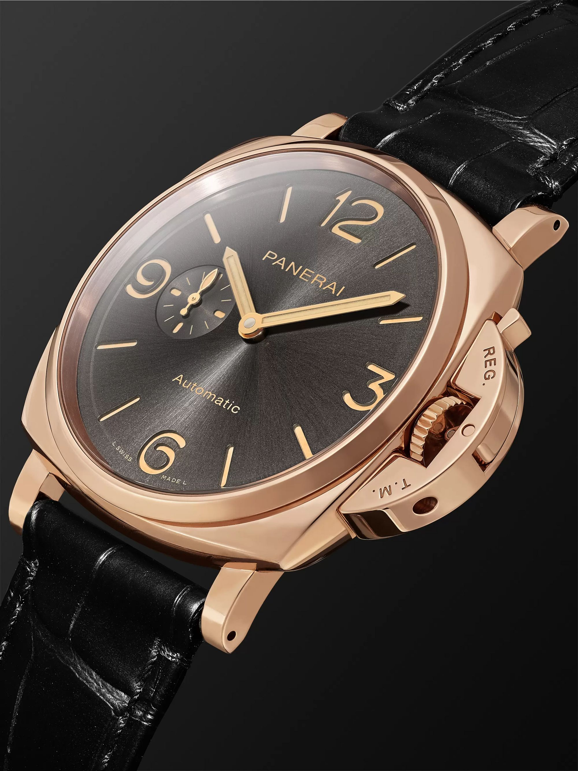 Panerai Luminor Due 3 Days Automatic 45mm Rose Goldtech and Alligator Watch