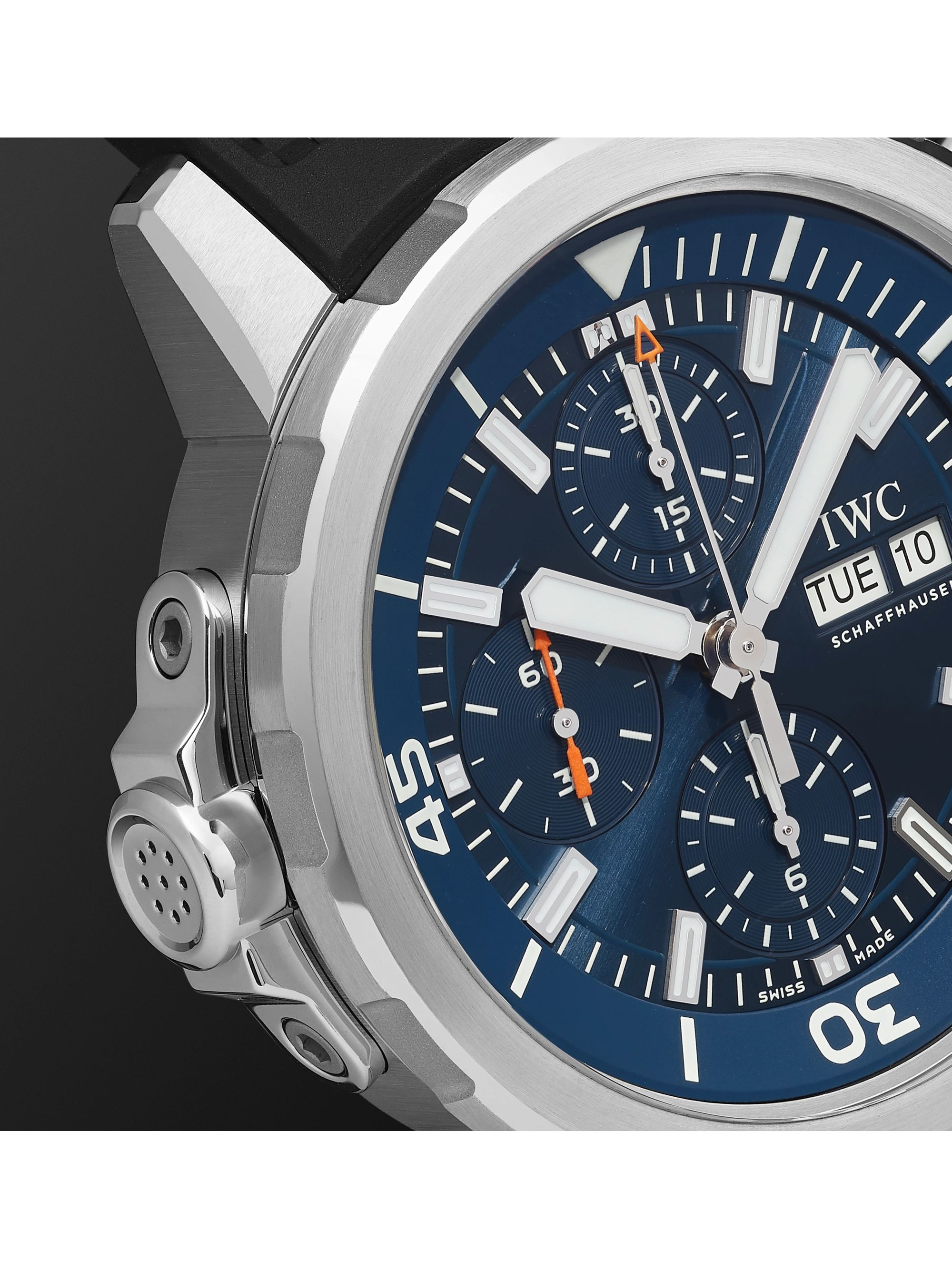 IWC SCHAFFHAUSEN Aquatimer Chronograph Expedition Jacques-Yves Cousteau Edition Automatic 40mm Stainless Steel and Rubber Watch