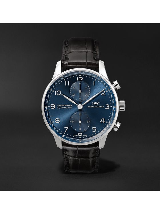 IWC SCHAFFHAUSEN Portugieser Automatic Chronograph 41mm Stainless Steel and Alligator Watch
