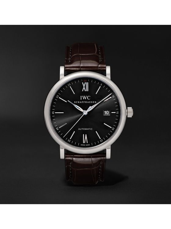 IWC SCHAFFHAUSEN Portofino Automatic 40mm Stainless Steel and Alligator Watch, Ref. No. IW356502