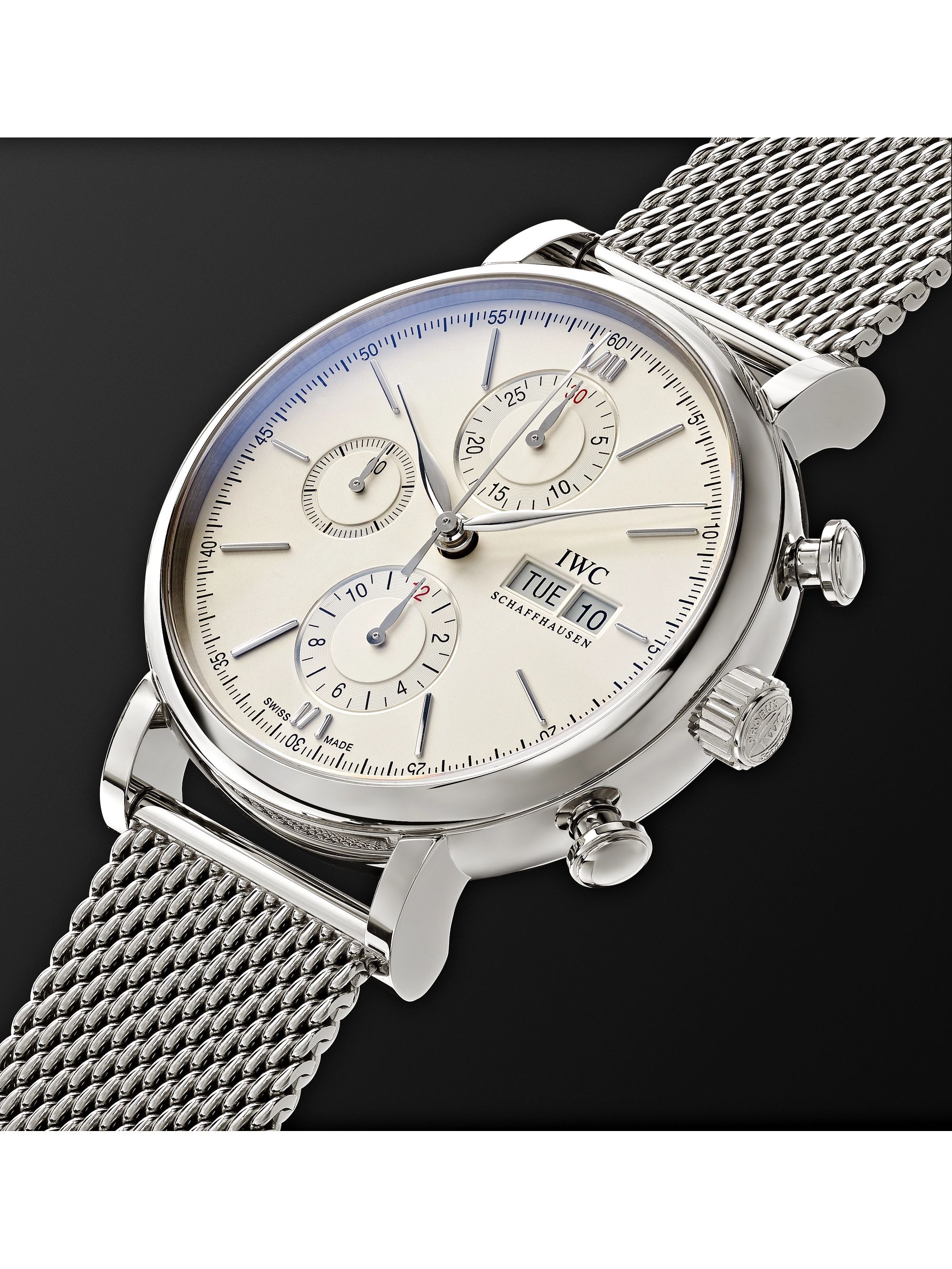 IWC SCHAFFHAUSEN Portofino Automatic Chronograph 42mm Stainless Steel Watch, Ref. No. IW391028