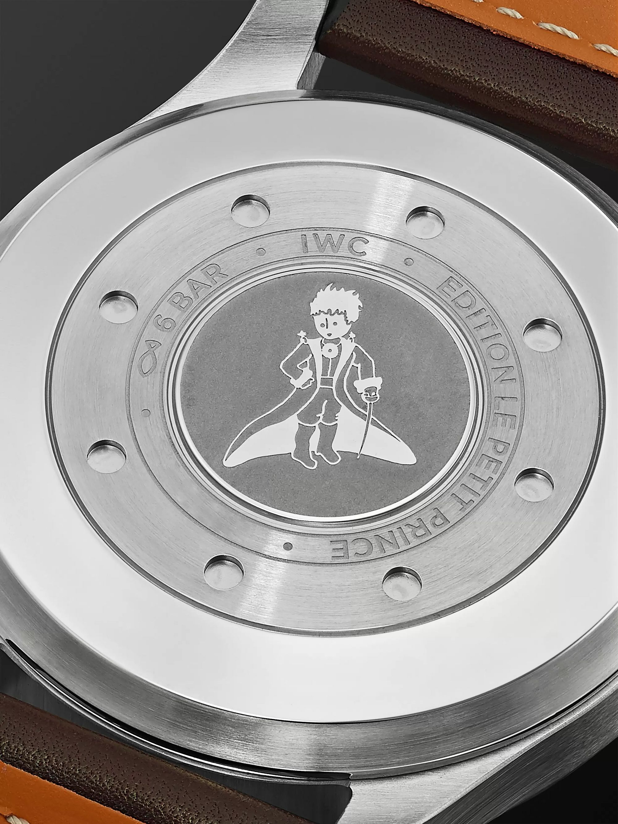 IWC SCHAFFHAUSEN Big Pilot's Le Petit Prince Automatic 46mm Stainless Steel and Leather Watch