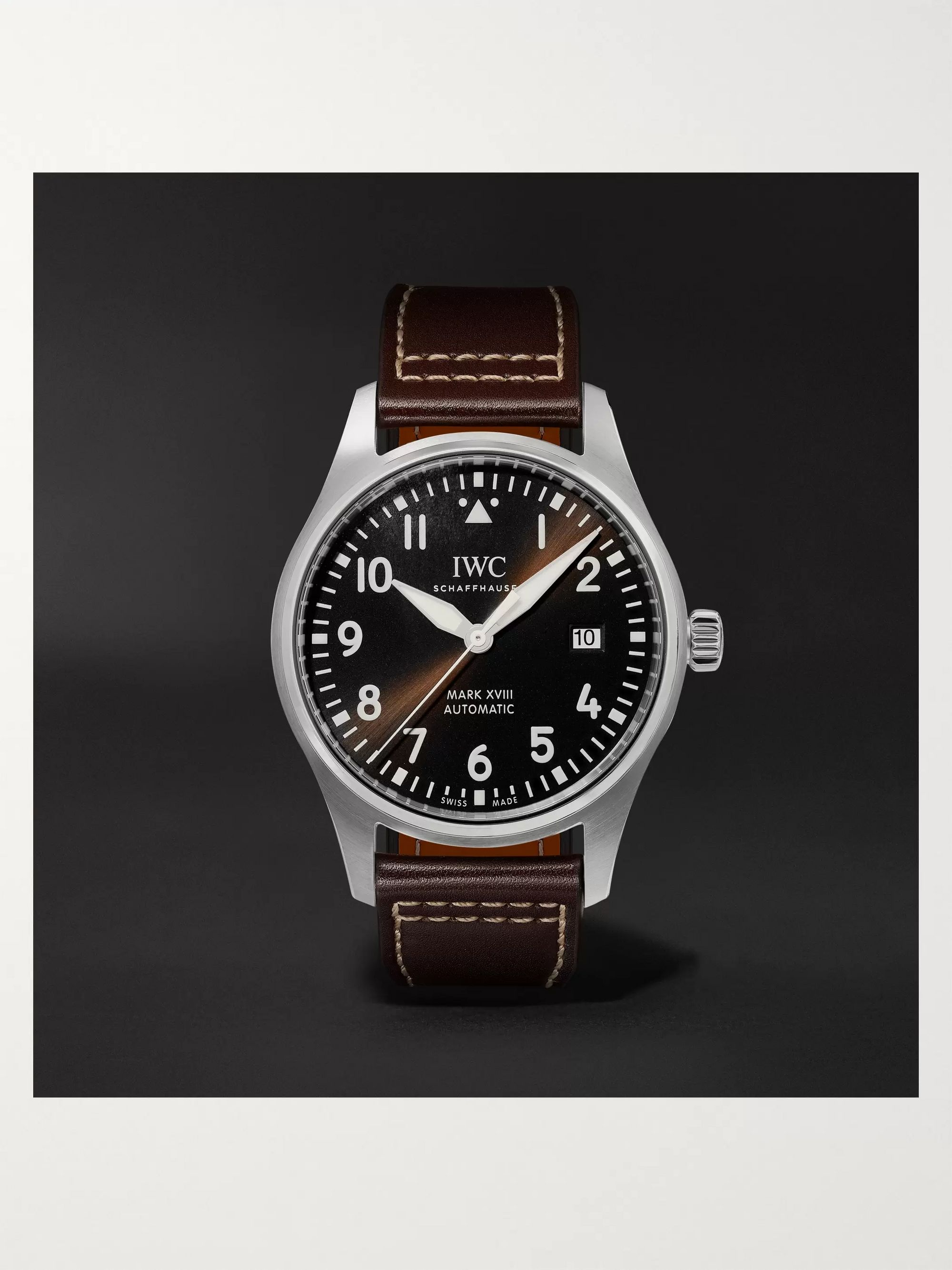 IWC SCHAFFHAUSEN Pilot's Spitfire Automatic 39mm Stainless Steel and Leather Watch, Ref. No. IW326803