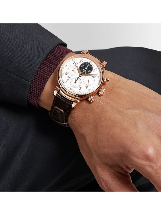 IWC SCHAFFHAUSEN Da Vinci Perpetual Calendar Automatic Chronograph 43mm 18-Karat Rose Gold and Alligator Watch, Ref. No. IW392101