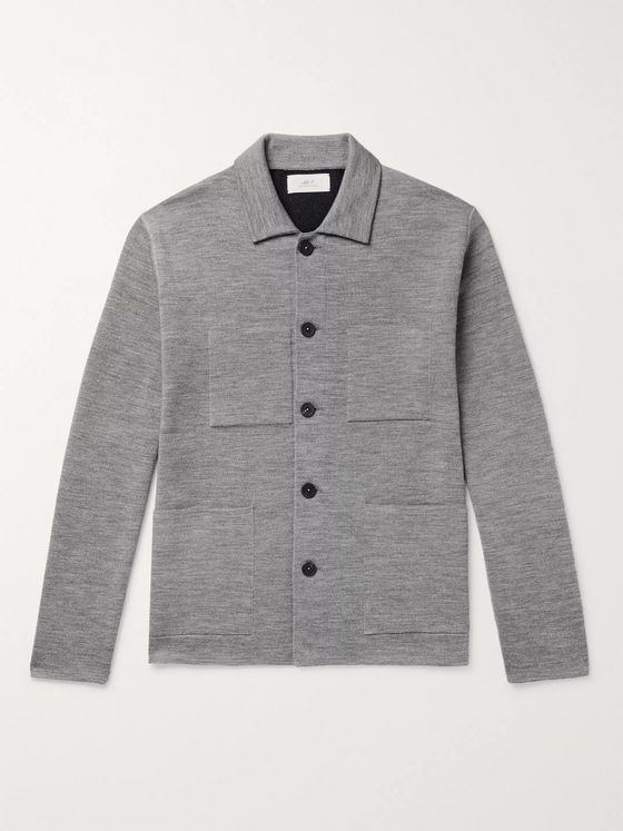 Mr P. Double-Faced Knitted Chore Jacket