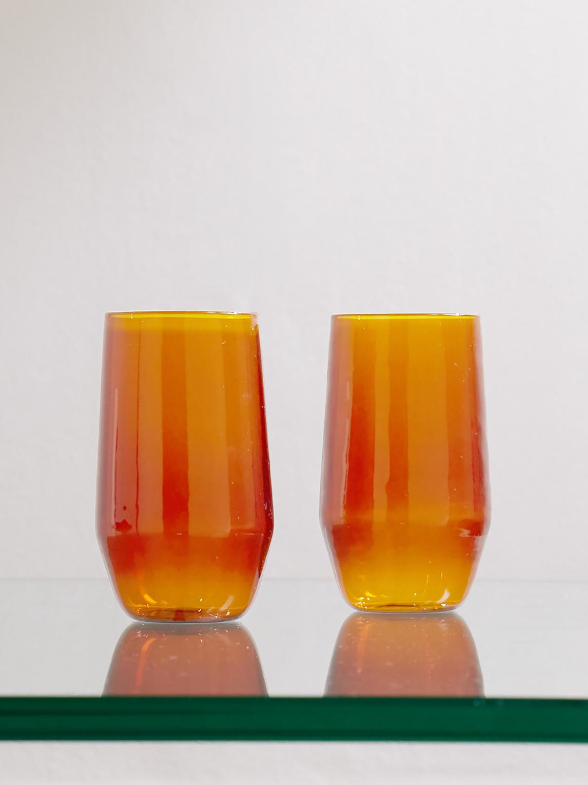 R+d.lab Velasca Set Of Two Amaro Glasses In Orange