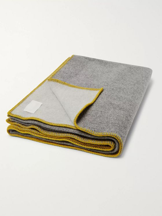R+D.LAB Double-Faced Virgin Wool-Blend Blanket