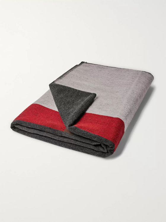 R+D.LAB Sea View Wool-Blend Jacquard Blanket