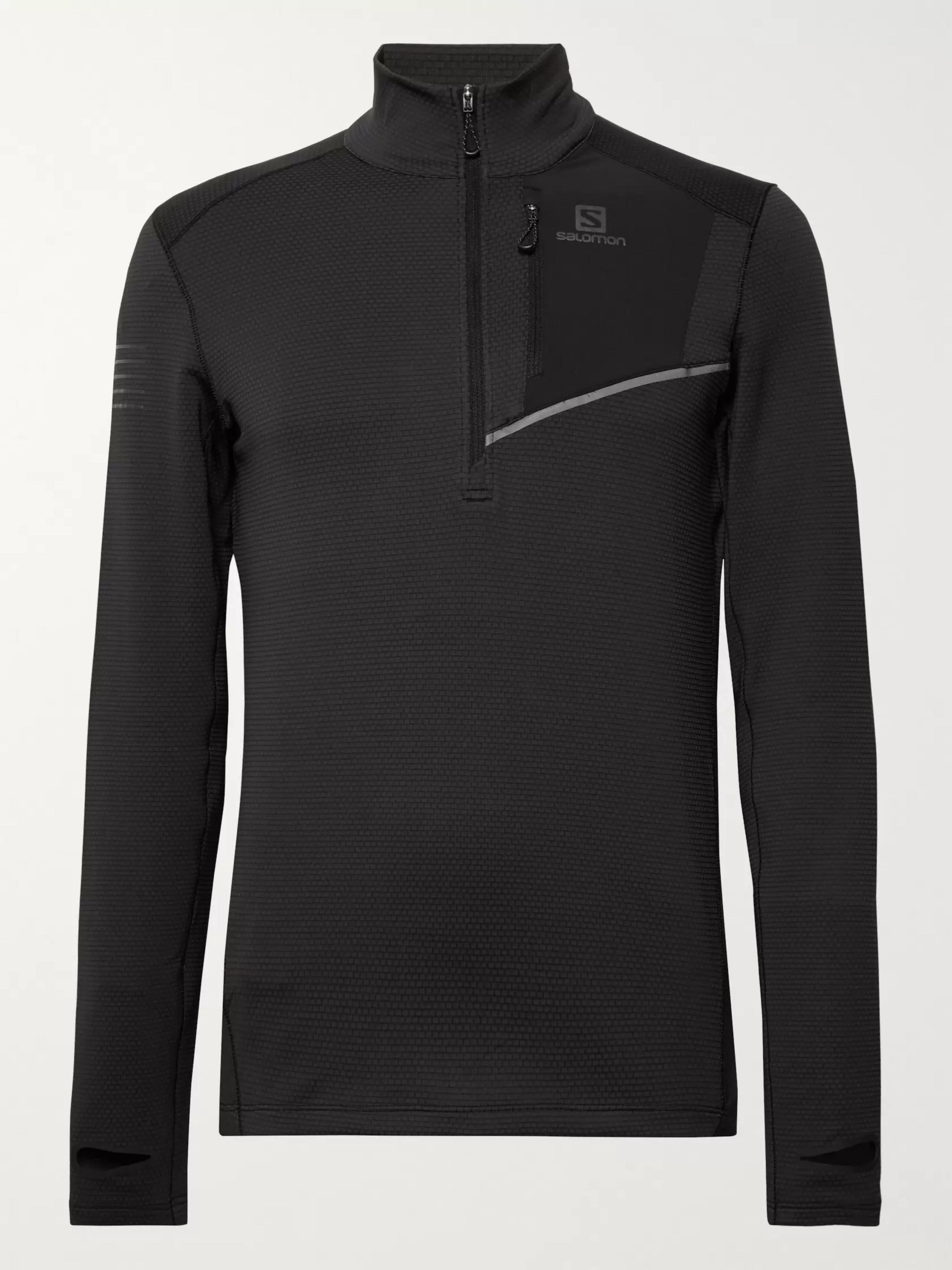 Salomon Fast Wing Stretch-Jersey Half-Zip Running Top