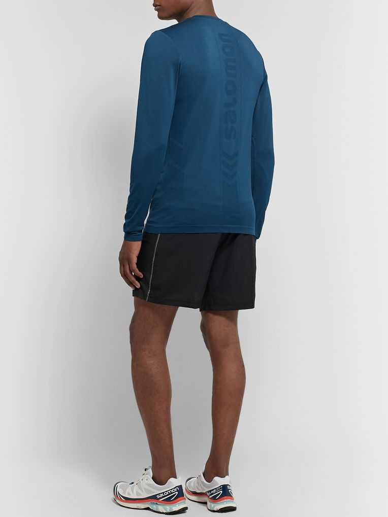Salomon Sense Logo-Detailed Stretch-Knit T-Shirt