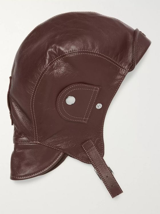 Connolly + Goodwood Leather Driving Helmet
