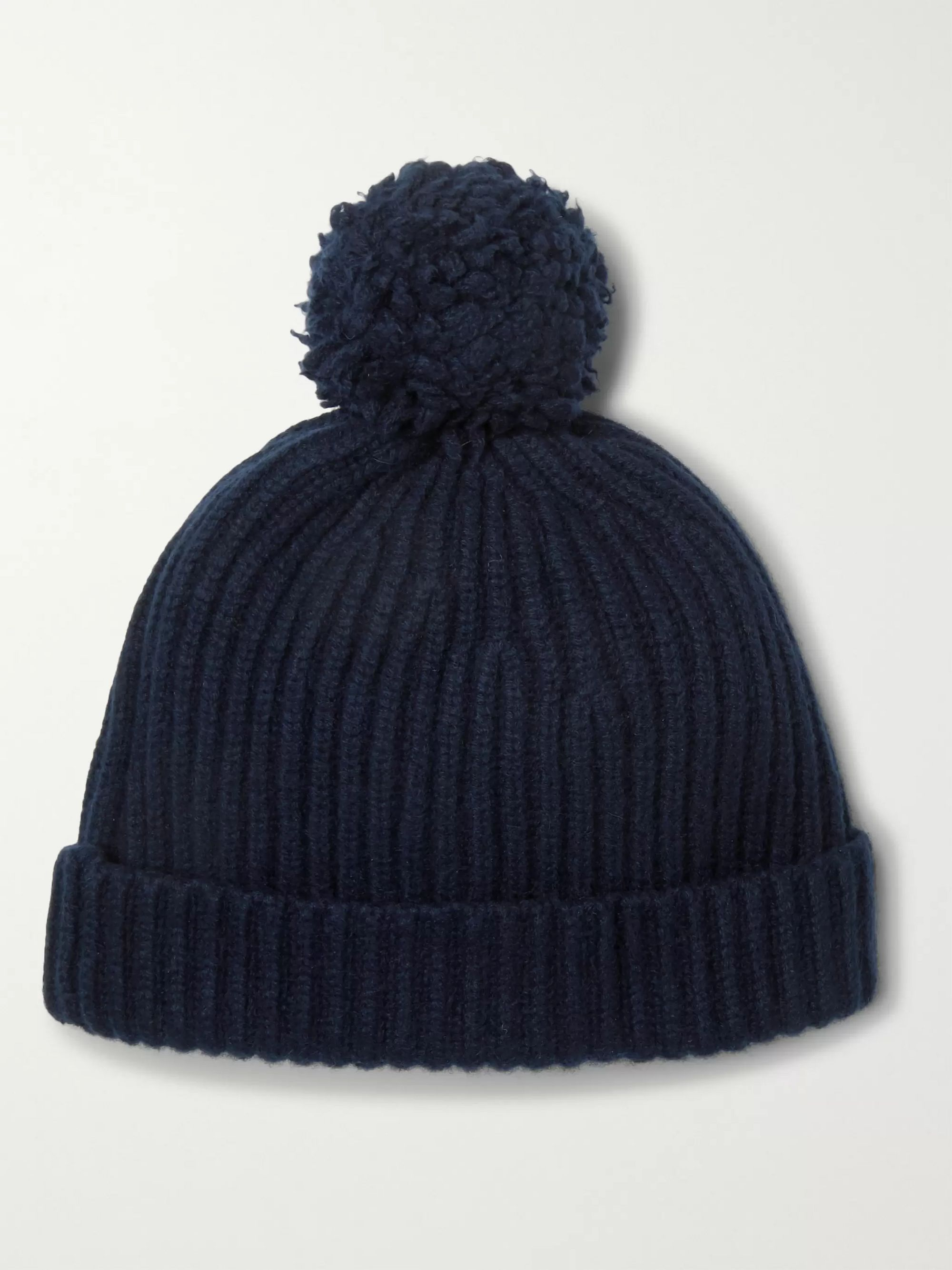 Connolly + Goodwood Ribbed Cashmere Beanie