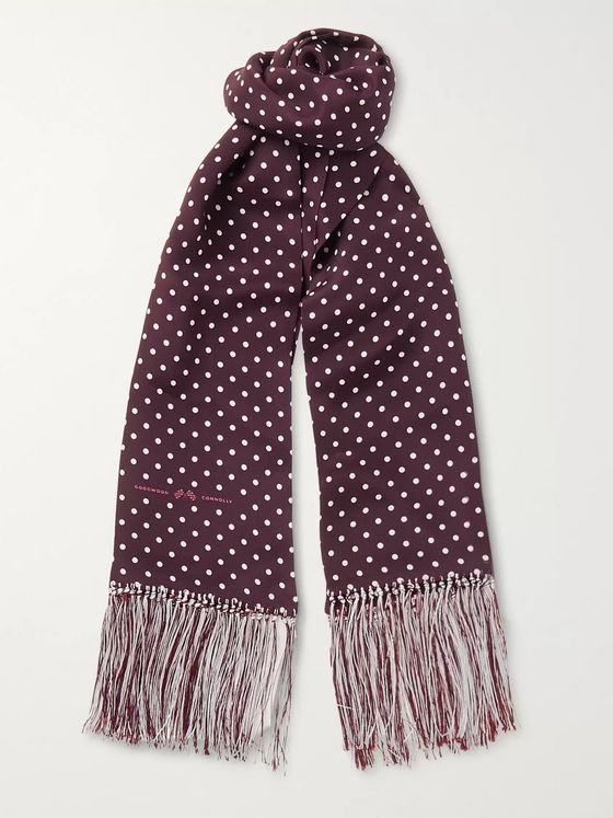 Connolly + Goodwood Polka-Dot Silk Scarf