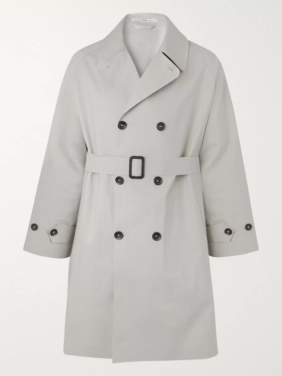 Connolly + Goodwood Cotton-Gabardine Trench Coat