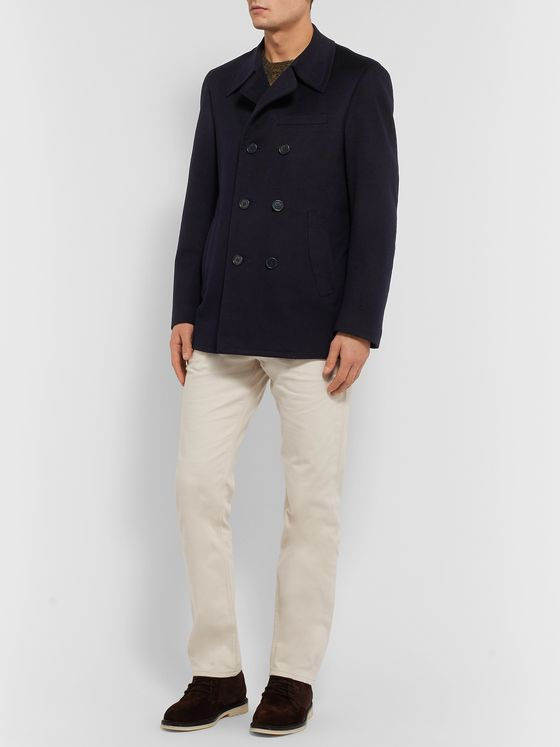 Canali Wool and Cashmere-Blend Peacoat