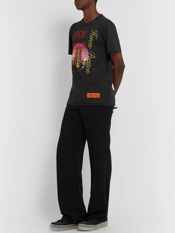 Heron Preston Embroidered Printed Organic Cotton-Jersey T-Shirt
