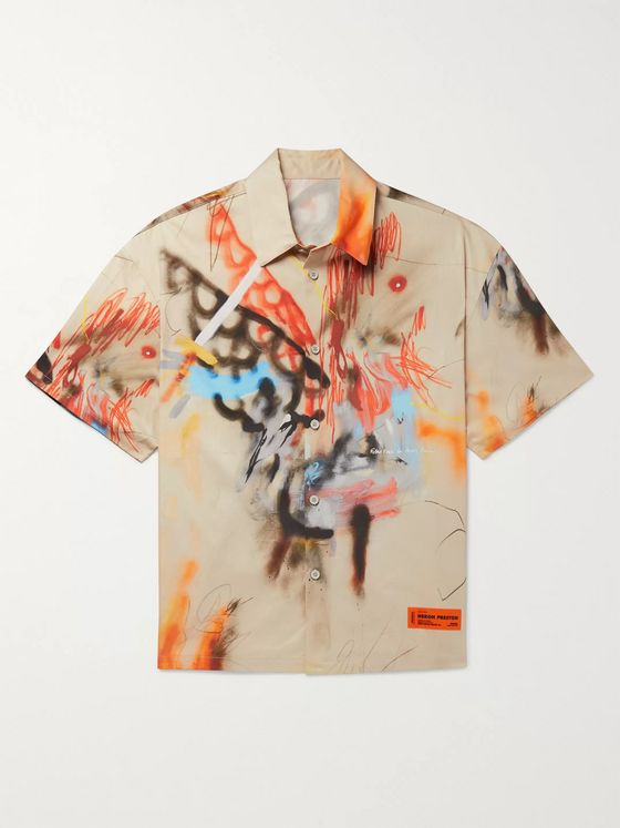 Heron Preston Printed Cotton Shirt