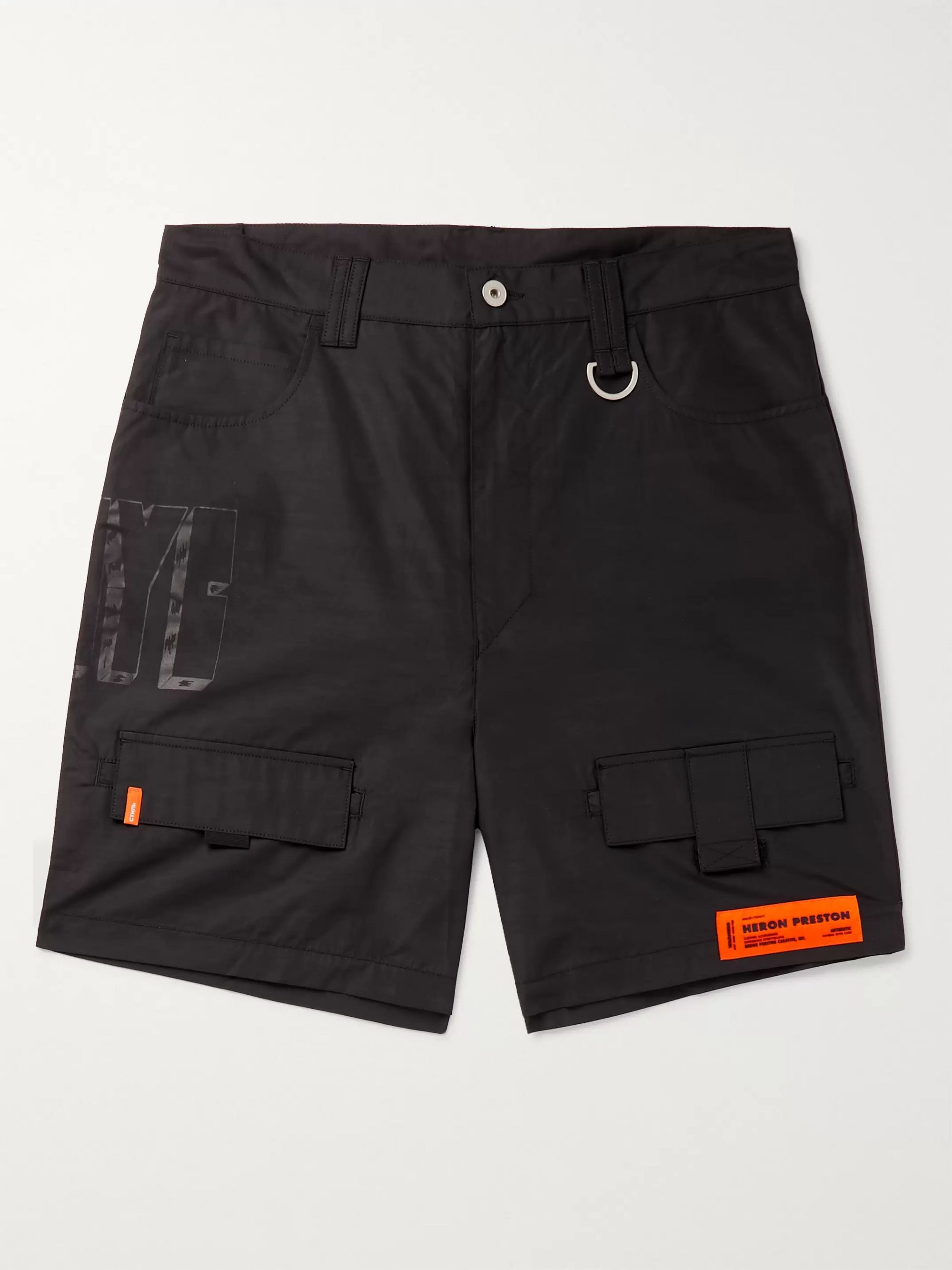 Heron Preston Wide-Leg Cotton-Blend Shorts