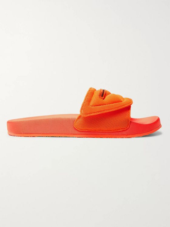 Heron Preston Logo-Appliquéd Mesh Slides