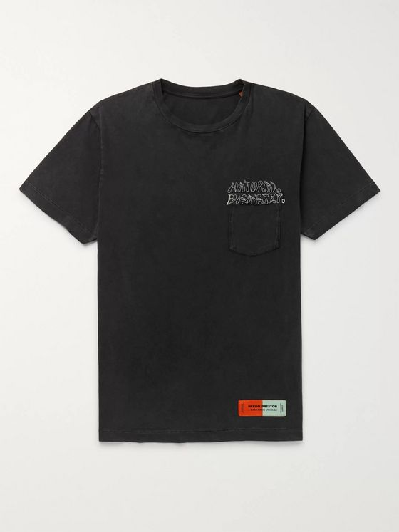 Heron Preston Embroidered Organic Cotton-Jersey T-Shirt