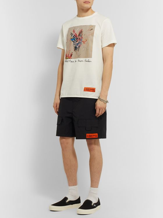 Heron Preston Slim-Fit Printed Organic Cotton-Jersey T-Shirt