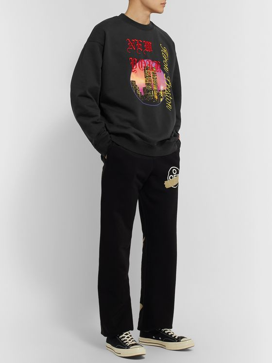 Heron Preston Logo-Embroidered Printed Loopback Cotton-Jersey Sweatshirt