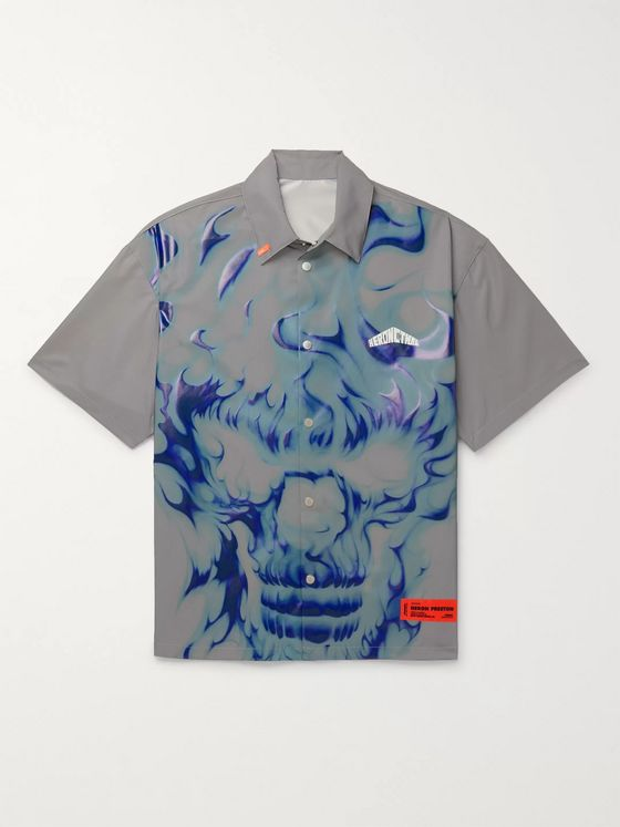 Heron Preston Reflective Printed Shell Shirt
