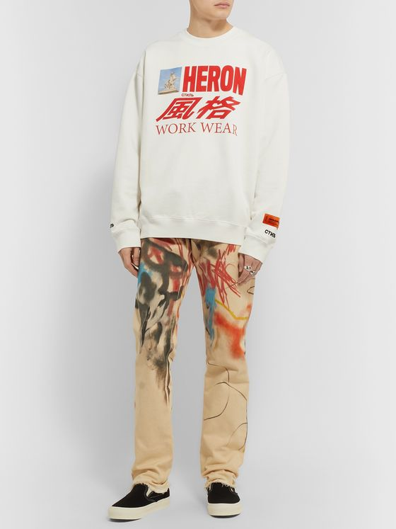 Heron Preston Printed Organic Loopback Cotton-Jersey Sweatshirt