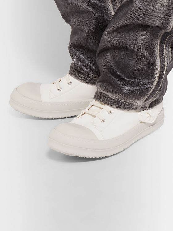 Rick Owens Bauhaus Cap-Toe Canvas High-Top Sneakers
