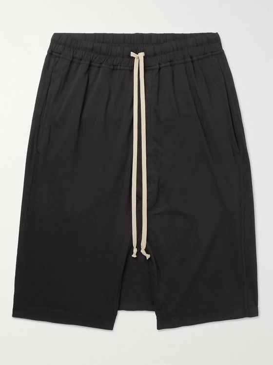 Rick Owens DRKSHDW Basket Cotton-Jersey Drawstring Shorts