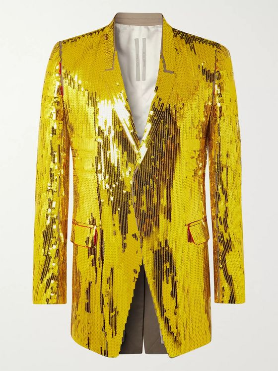 Rick Owens Tatlin Sequinned Cotton Blazer