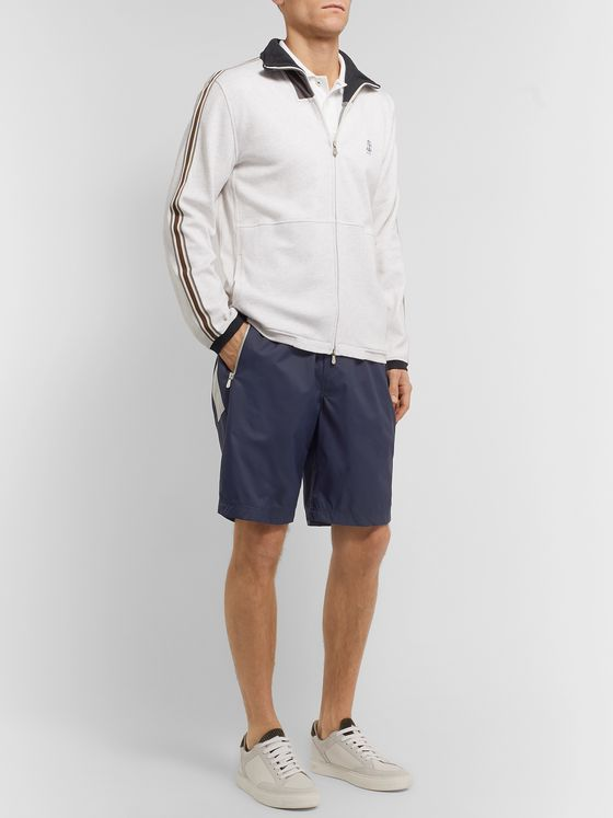 Brunello Cucinelli Colour-Block Shell Shorts