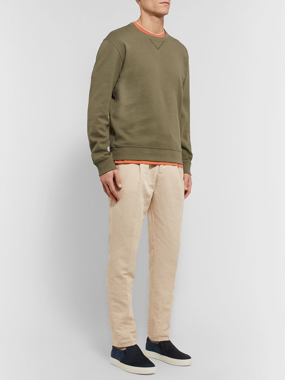 Brunello Cucinelli Slim-Fit Linen and Cotton-Blend Twill Drawstring Trousers
