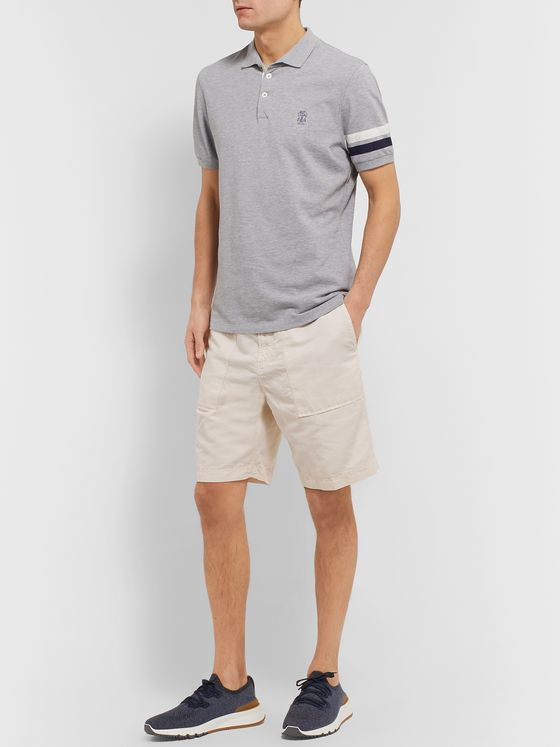 Brunello Cucinelli Slim-Fit Linen and Cotton-Blend Shorts