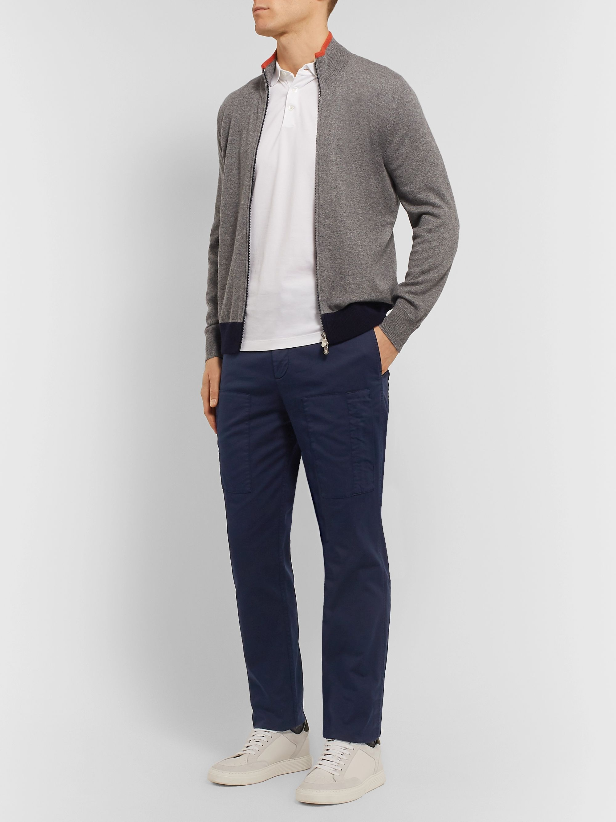 Brunello Cucinelli Stretch-Cotton Twill Cargo Trousers