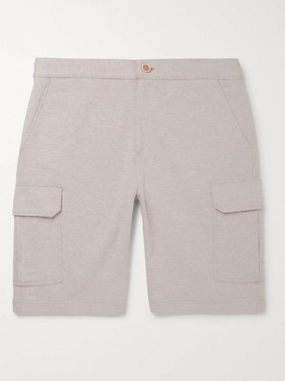 Brunello Cucinelli Mélange Cotton-Blend Jersey Cargo Shorts
