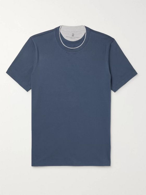 Brunello Cucinelli Layered Cotton-Jersey T-Shirt