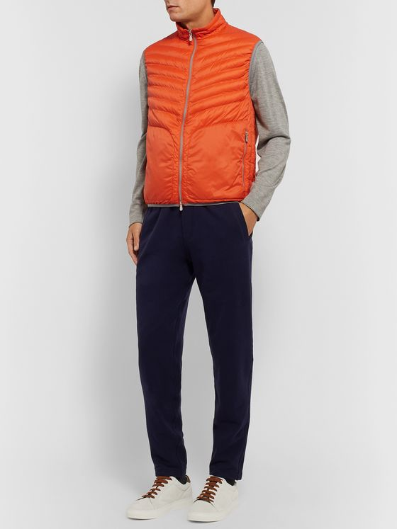 Brunello Cucinelli Slim-Fit Quilted Shell Down Gilet