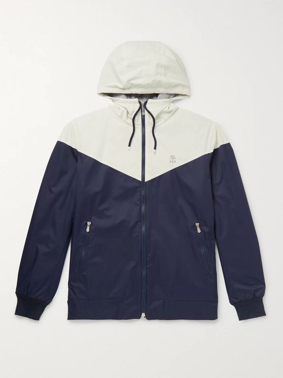 Brunello Cucinelli Reversible Panelled Shell Hooded Jacket