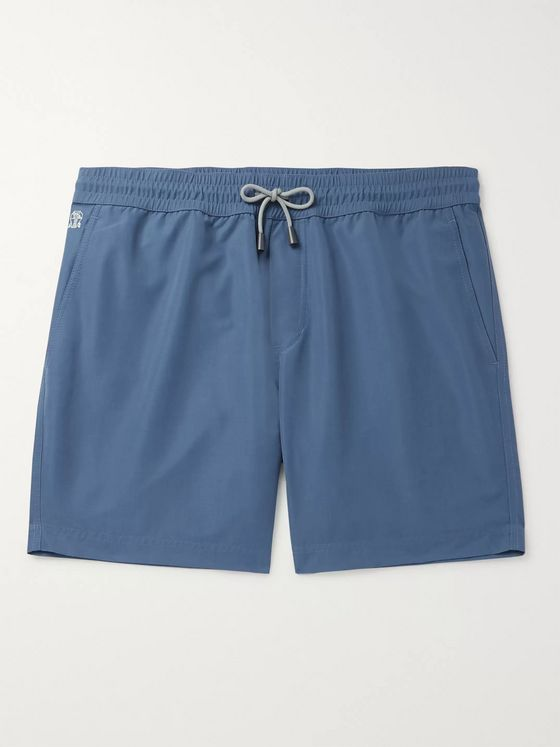 Brunello Cucinelli Wide-Leg Mid-Length Swim Shorts
