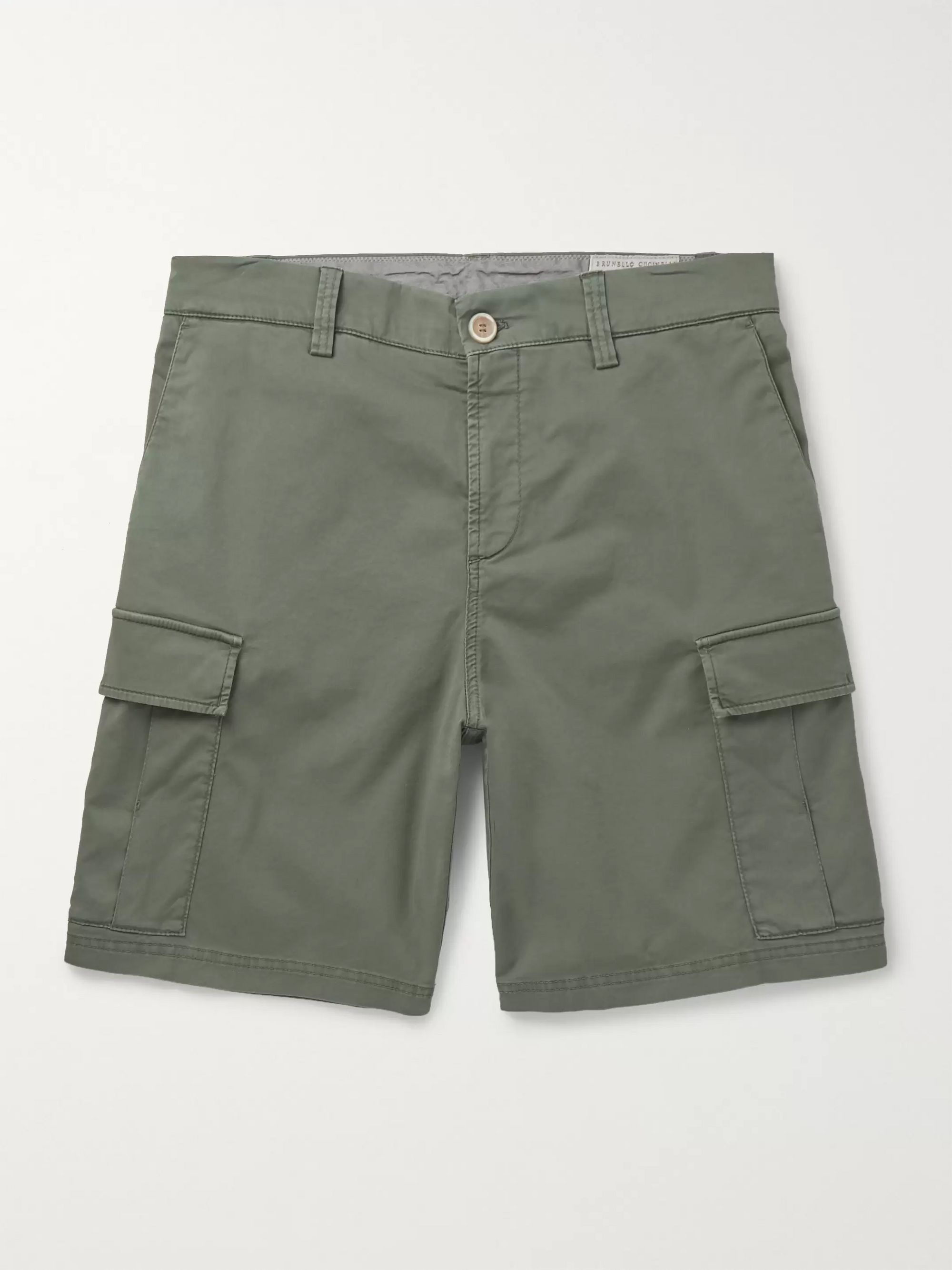 Brunello Cucinelli Cotton-Blend Twill Cargo Shorts