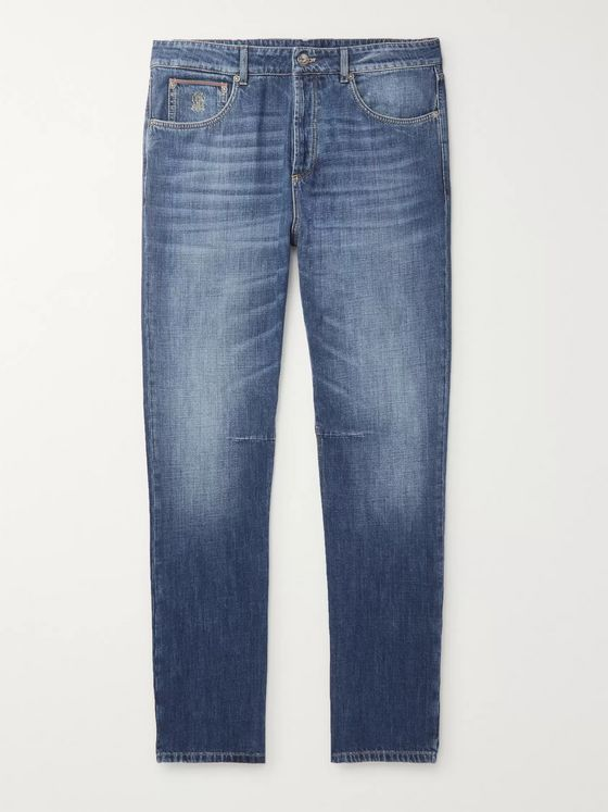 Brunello Cucinelli Slim-Fit Selvedge Denim Jeans