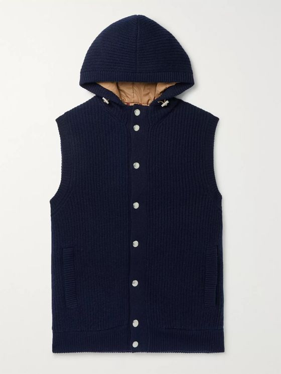 Brunello Cucinelli Cashmere Hooded Down Gilet