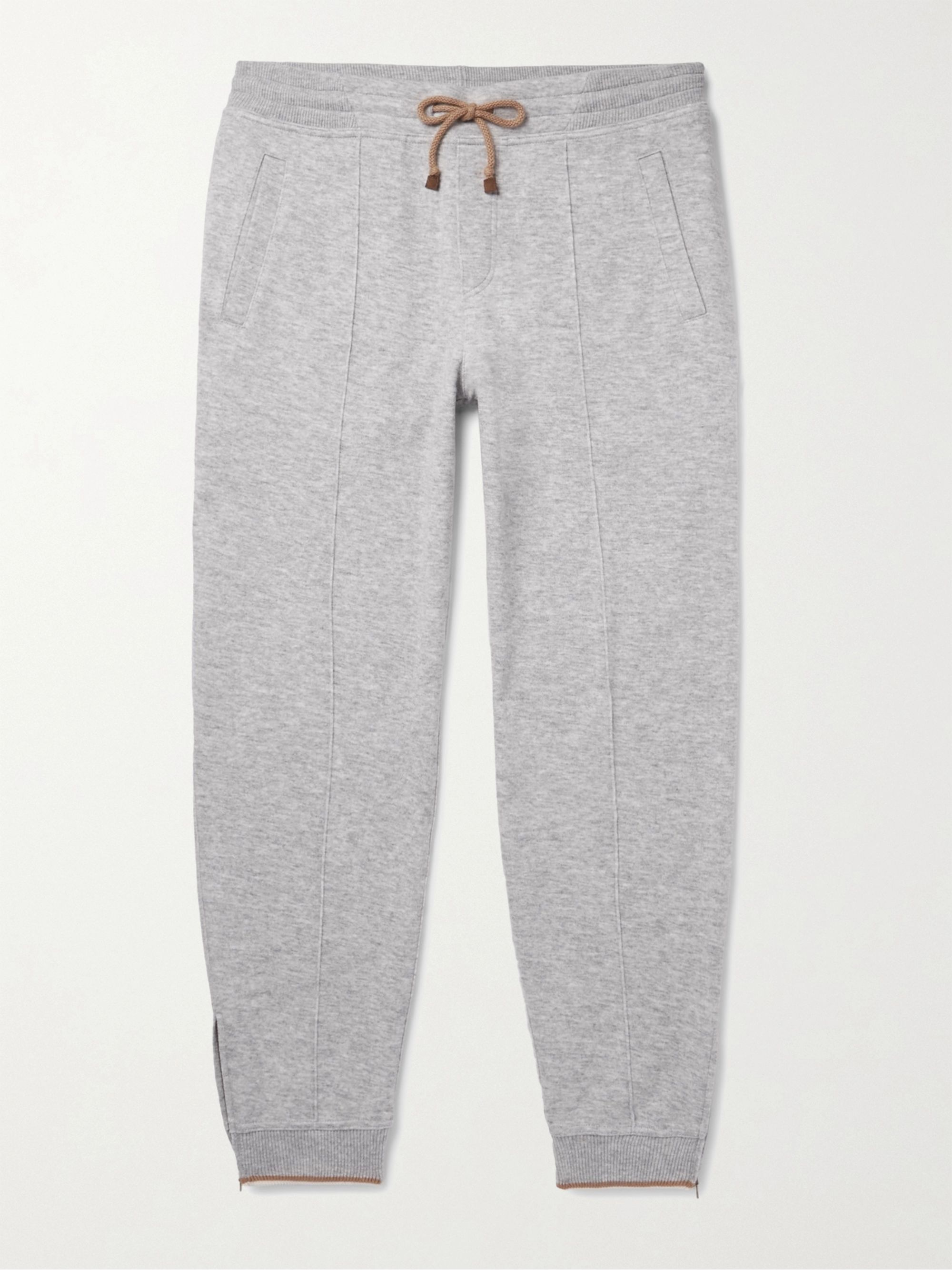 Brunello Cucinelli Slim-Fit Tapered Cashmere-Blend Jersey Sweatpants