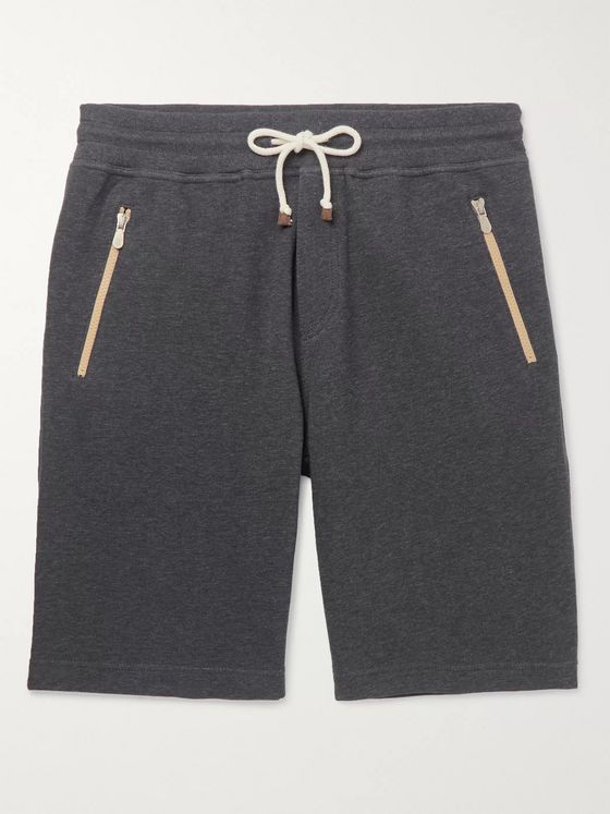 Brunello Cucinelli Slim-Fit Cotton-Blend Jersey Drawstring Shorts