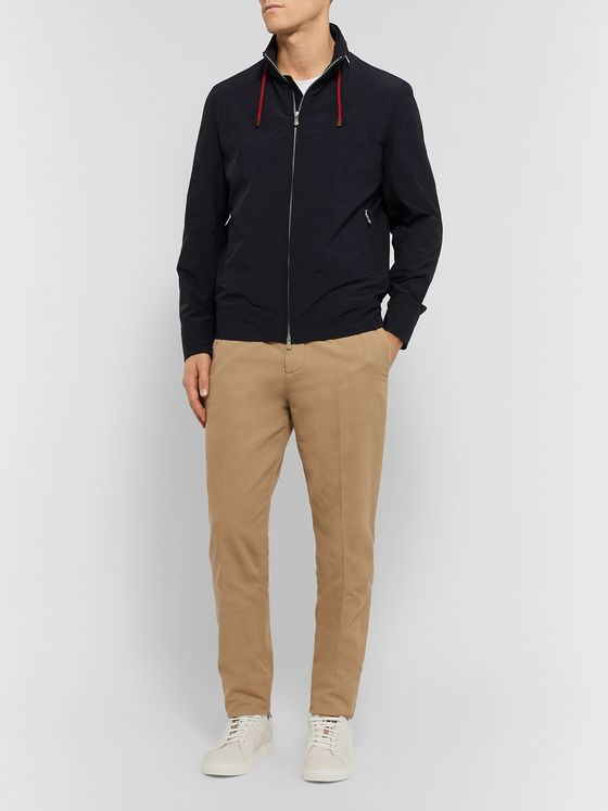 Brunello Cucinelli Slim-Fit Shell Hooded Bomber Jacket