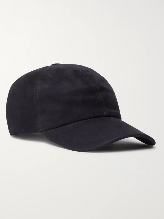 Brunello Cucinelli Leather-Trimmed Suede Baseball Cap